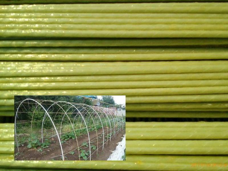 Использование стеклопластиковых дуг на даче