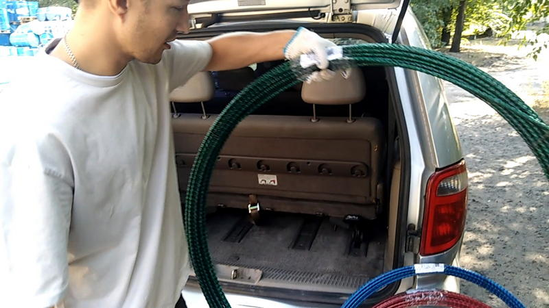 Перевозка арматуры стеклопластиковой композитной без проблем осуществляется в легковой машине