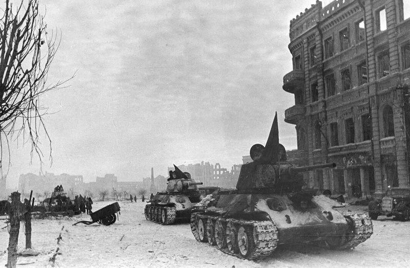 Документальное фото Сталинградской битвы (1943 г.),