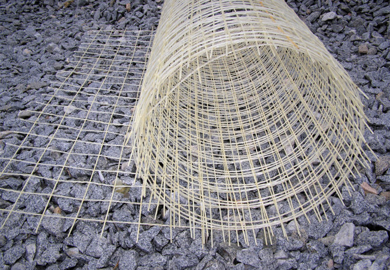 Стеклопластиковая сетка для армирования бетонных дорожек