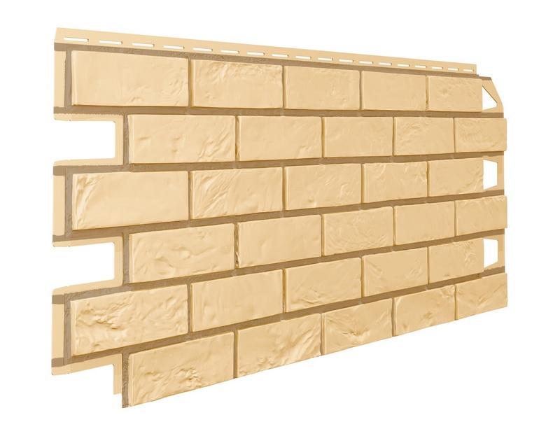 Фасадные панели имитация желтого кирпича
