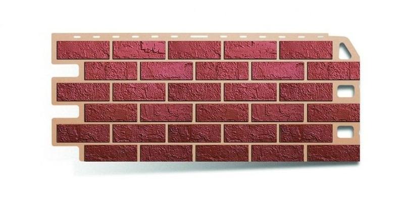 Красная фасадная панель