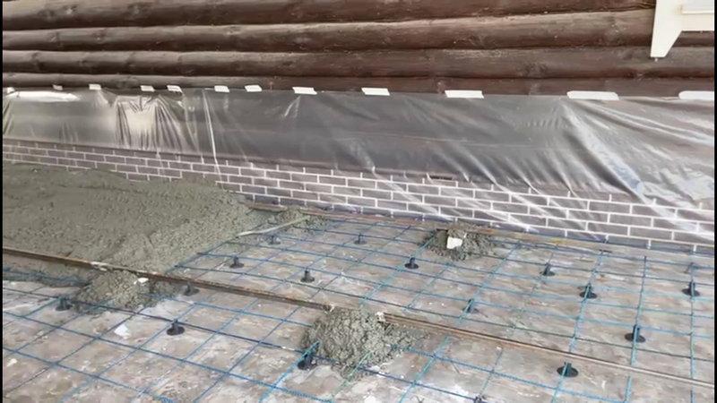 Процесс заливки бетоном стеклопластиковой арматуры от Завода СтеклоПласт