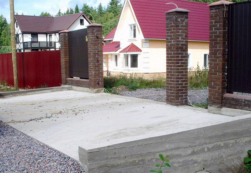 Армирование бетонного въезда стеклопластиковой арматурой