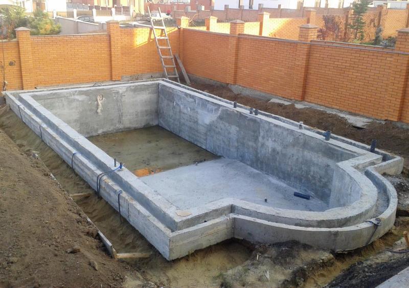 Стеклопластиковая арматура при строительстве бассейнов