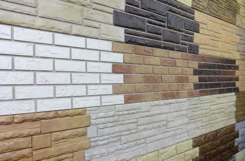 Большой ассортимент цветов и форм стеновых фасадных панелей