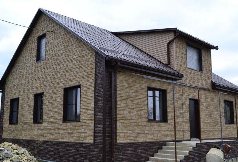 Цокольные фасадные термопанели для наружной отделки дома от завода СтеклоПласт