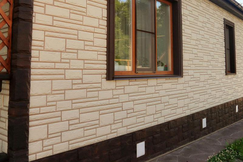 Отделка стен фасадными панелями