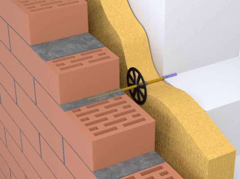 Гибкие базальтовые связи для многослойных стен