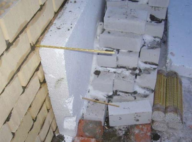 Гибкие связи (стеклопластиковые стержни) от завода СтеклоПласт для армирования кирпичной кладки в многослойных теплых стенах