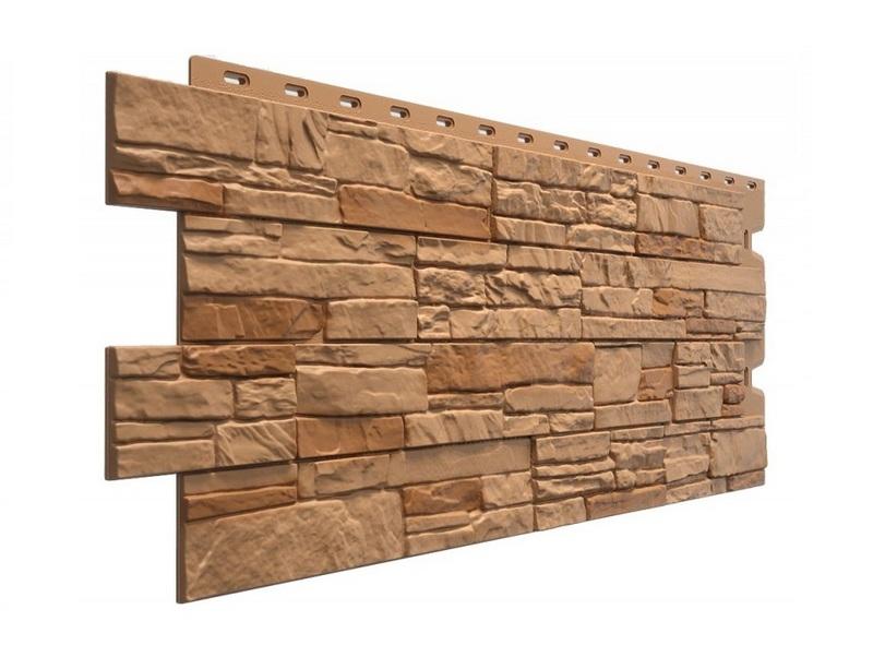 Теплые фасадные стеновые панели с имитацией текстуры под каменную кладку